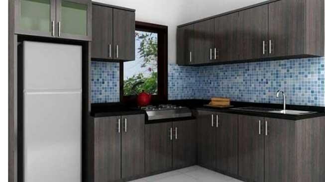 David Signature Black Modern Kitchen Set