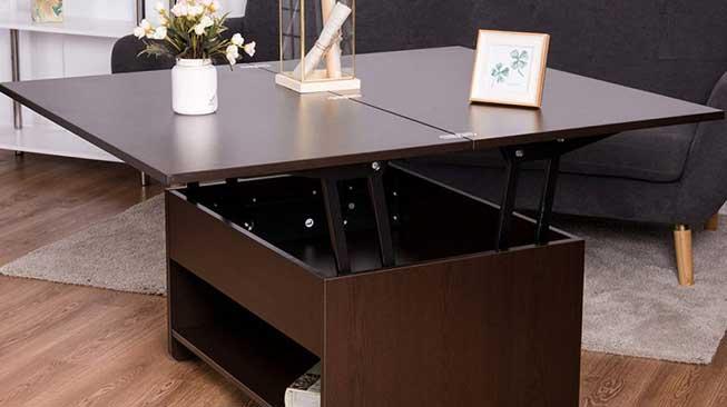 Meja dengan Tempat Penyimpanan Tersembunyi